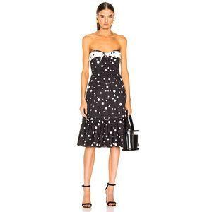 Miaou Norma Button Tier Ruffle Vintage Style Dress